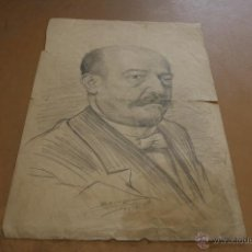 Arte: FIRMADO BRUNDI, DIBUJO A CARBON. 1901. Lote 39832122