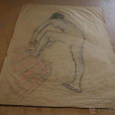 Arte: RIBAS RIUS. DIBUJO A PASTEL.. Lote 39904177
