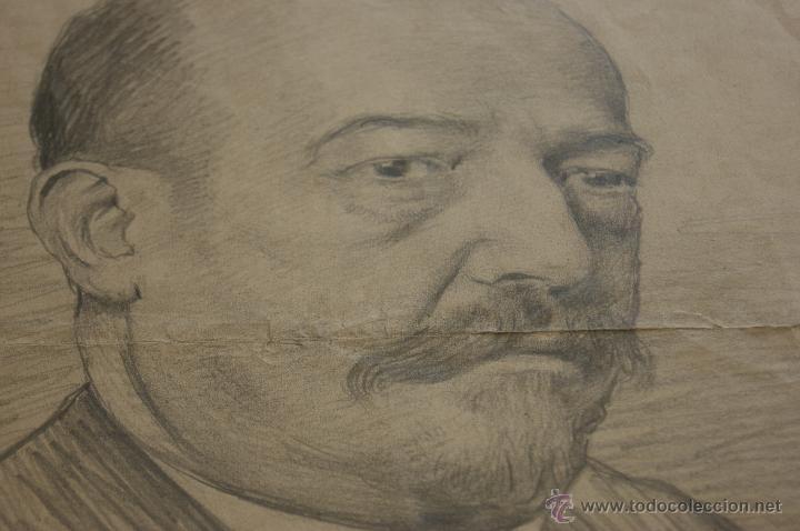 Arte: Firmado Brundi, dibujo a carbon. 1901 - Foto 2 - 39832122