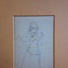 Arte: EXCELENTE RETRATO ART NOVEAU, FIRMADO Y FECHADO POR EL COTIZADO PINTOR ETHEL HALL RMS 1888. Lote 39992724