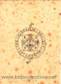 DIBUJO A PLUMILLA DEL ESCUDO DE LA 'HISPANIC SOCIETY OF AMERICA.CA.1900. 14 X 11 CM.SOBRE CARTULINA. (Arte - Dibujos - Modernos siglo XIX)