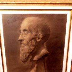 Arte: DIBUJO ACADÉMICO DE JOAN VILA CINCA (SABADELL 1856-1938).M.LLOMBART.REALIZADO EN 1920. Lote 40020912