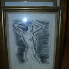 Arte: DIBUJO - CARBONCILLO - FDO. PRUNA - 1976 - DESNUDO FEMENINO. Lote 40033574