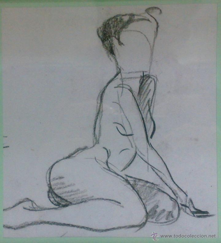 Mujer Desnuda Dibujo A Lapizpapel Enmarcado