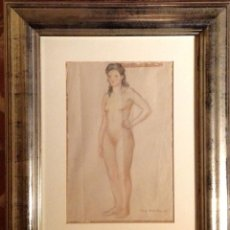 Arte: CUADRO DIBUJO / PUIG BARELLA LLUIS / BARCELONA 1894 -1984. Lote 40071359