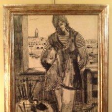 Arte: DIBUJO HABANERAS / GRANADOS LLIMONA, JUAN / BARCELONA -1931/ MEDIDAS 117 X 86CM. Lote 40088971