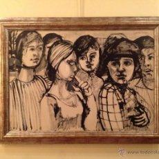 Arte: DIBUJO PASEO DE SEÑORAS / GRANADOS LLIMONA, JUAN / BARCELONA -1931 MEDIDAS 117X86CM. Lote 40089277