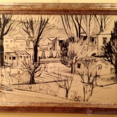 Arte: DIBUJO PAISAJE /JOAN GRANADOS LLIMONA / BARCELONA 1931 MEDIDAS 117X86CM. Lote 40092422