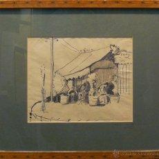 Arte: GABRIEL BELOT(PARIS, FRANCIA, 1882 - 1962) . DIBUJO ORIGINAL FIRMADO (MONOGRAMA GB). 24 X 20 CM.. Lote 40098733