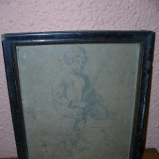 Arte: DIBUJO A LÁPIZ - JOAN MASMARTI - 1892 - MUCHACHO. Lote 40321207