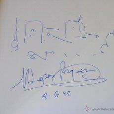 Arte: PINTURA CATÁLOGO EXPOSICIÓN CORPUS TOROS Y GRANADA CON DIBUJO Y FIRMADO DEL PINTOR LÓPEZ VÁZQUEZ. Lote 40338141