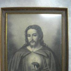 Arte: MARCO CON CARBONCILLO SOBRE PAPEL, FIRMADO 60X78. Lote 40412209