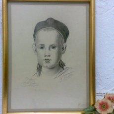 Arte: PEQUEÑA.- RETRATO A LAPICERO, SIGLO XIX.- FIRMADO.. Lote 40662467