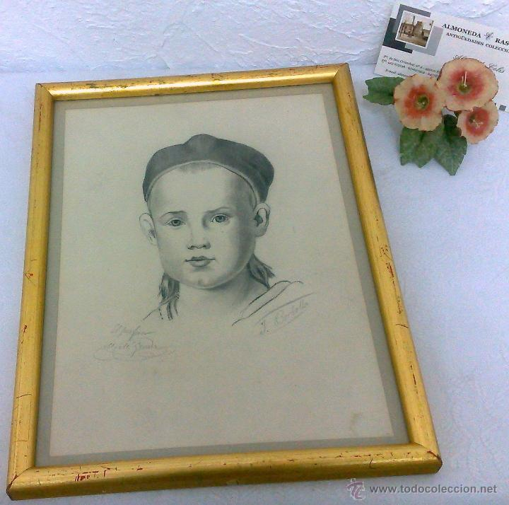 Arte: PEQUEÑA.- RETRATO A LAPICERO, SIGLO XIX.- FIRMADO. - Foto 10 - 40662467
