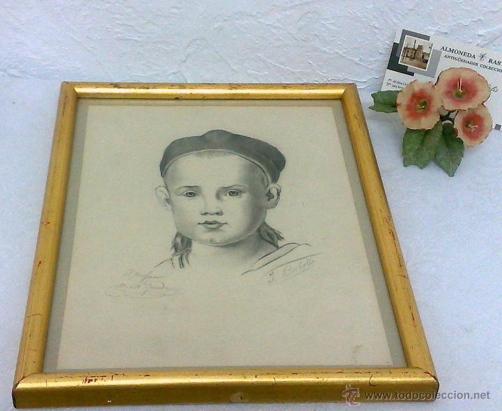 Arte: PEQUEÑA.- RETRATO A LAPICERO, SIGLO XIX.- FIRMADO. - Foto 15 - 40662467