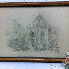 Art: EL INVERNADERO,- DIBUJO FIRMADO Y FECHADO, 31-12-1951. Lote 40701615