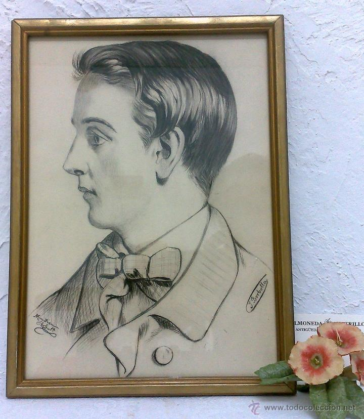 SIGLO XIX.XX. DIBUJO A LÁPIZ, FIRMADO (Arte - Dibujos - Modernos siglo XIX)