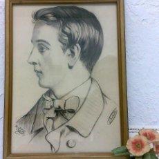 Arte: SIGLO XIX.XX. DIBUJO A LÁPIZ, FIRMADO. Lote 40705715