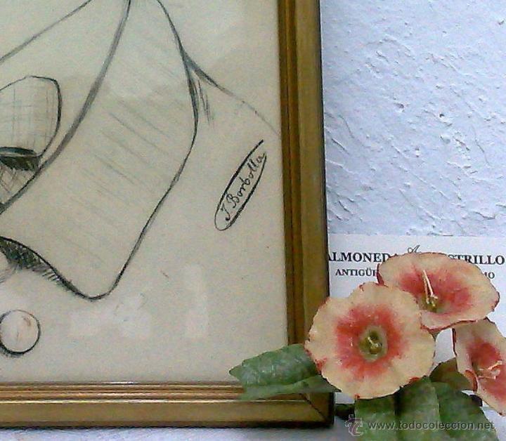 Arte: SIGLO XIX.XX. DIBUJO A LÁPIZ, FIRMADO - Foto 6 - 40705715