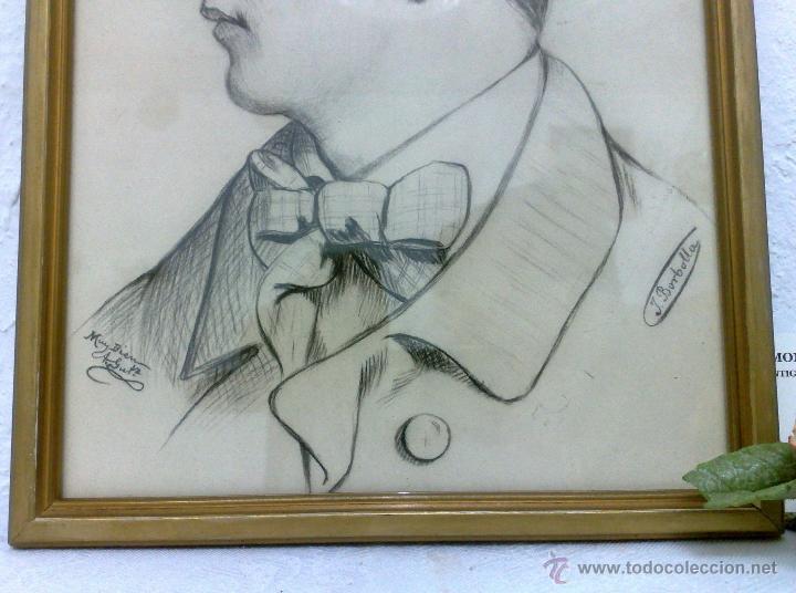 Arte: SIGLO XIX.XX. DIBUJO A LÁPIZ, FIRMADO - Foto 7 - 40705715