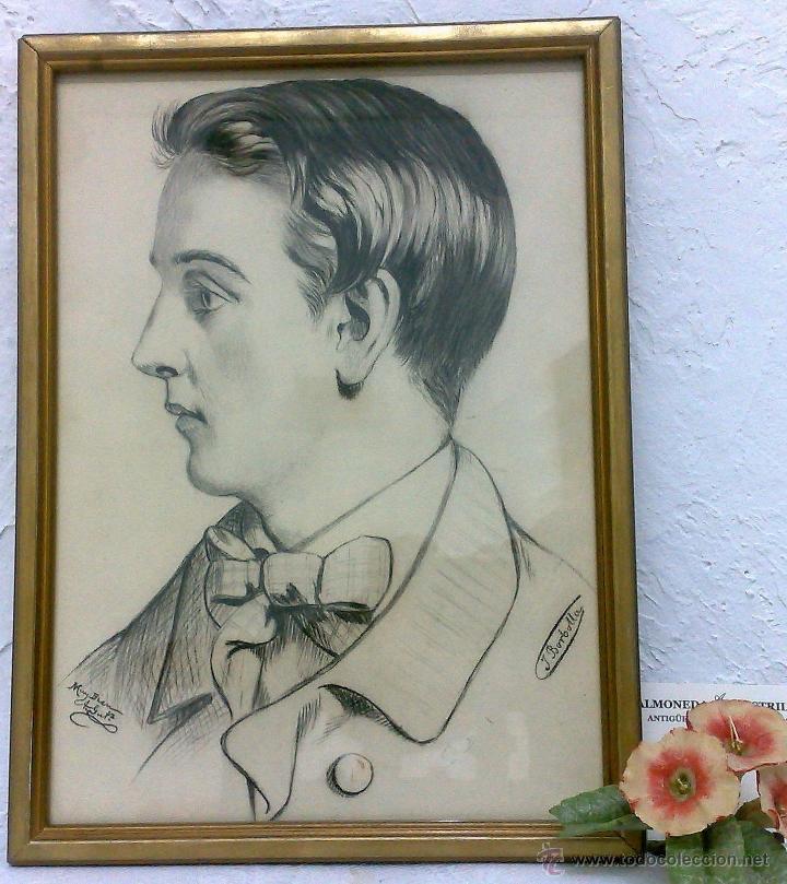 Arte: SIGLO XIX.XX. DIBUJO A LÁPIZ, FIRMADO - Foto 8 - 40705715
