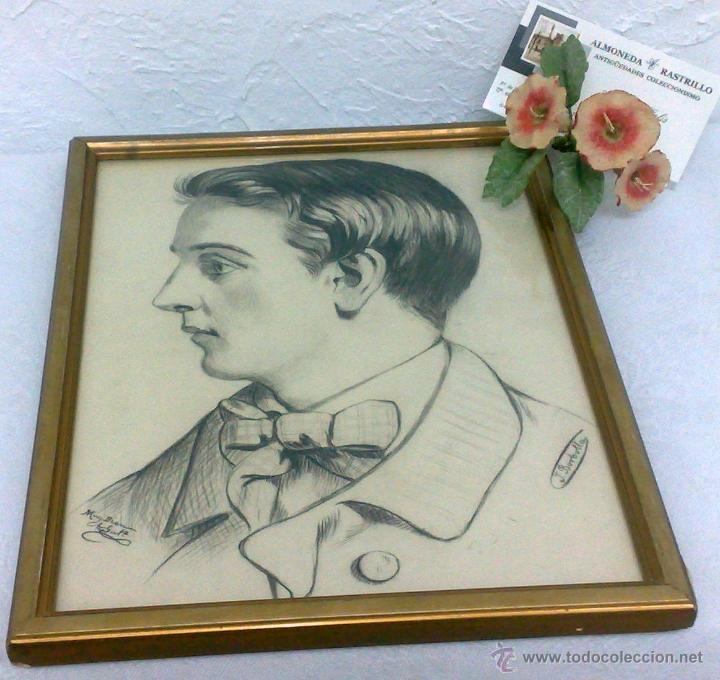 Arte: SIGLO XIX.XX. DIBUJO A LÁPIZ, FIRMADO - Foto 12 - 40705715