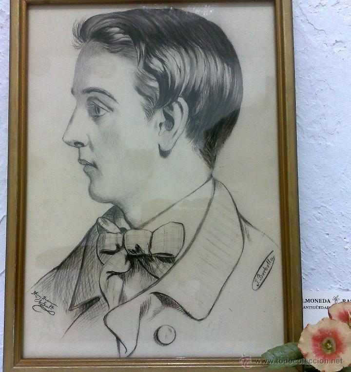 Arte: SIGLO XIX.XX. DIBUJO A LÁPIZ, FIRMADO - Foto 13 - 40705715