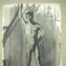 Arte: DIBUJO FIRMADO SALVADOR VIVÓ 1925.MEDIDA 32 X 24 CM. Lote 40706462