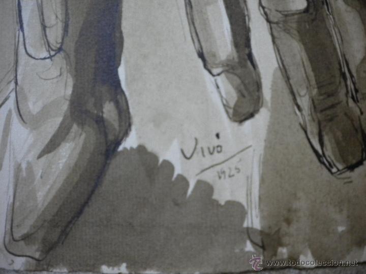 Arte: dibujo firmado Salvador Vivó 1925,medida 24x31 - Foto 2 - 40706583