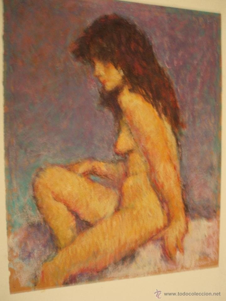 PRECIOSO DESNUDO A LA CERA DE JOAN PALET (Arte - Dibujos - Contemporáneos siglo XX)