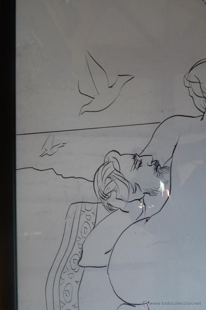Arte: MARAVILLOSO DIBUJO ALEGÓRICO A PLUMILLA DEL GENIAL PINTOR PACO HERNÁNDEZ - Foto 3 - 40750223