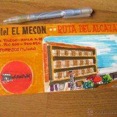 Arte: DIBUJO ORIGINAL PARA LA PUBLICIDAD DEL HOTEL EL MESON - AÑOS 60 - TORRIJOS - TOLEDO. Lote 40834272