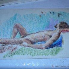 Arte: DESNUDO / CERA - ANONIMO - DESNUDO MASCULINO. Lote 40905029