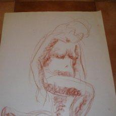 Arte: DIBUJO DESNUDO FEMENINO SANGUINA A2. Lote 40912304