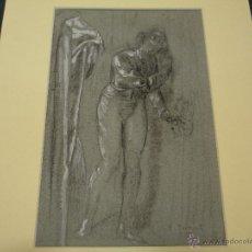 Arte: ALEJANDRO FERRANT. HOMBRE APOYADO EN LA PARED. Lote 40976852