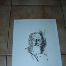 Arte: DIBUJO A TINTA - J D G - RETRATO MASCULINO. Lote 40990860