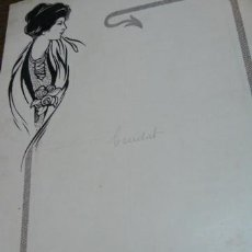 Art: DIBUJO MODERNISTA ORIGINAL PARA FOLLETO DE PROPAGANDA. Lote 40999754