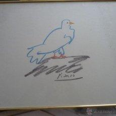 Arte: DIBUJO LA PALOMA DE PICASSO SERIE LIMITADA PROCEDENTE DE ESTADOS UNIDOS. Lote 80062583