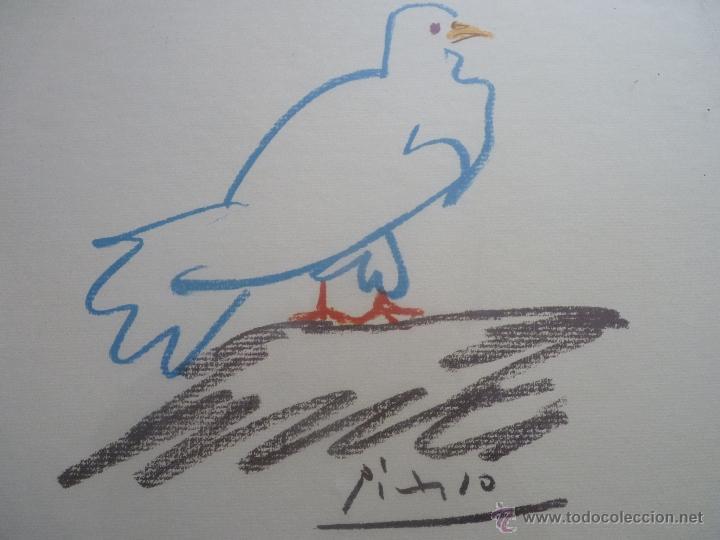 Arte: DIBUJO LA PALOMA DE PICASSO SERIE LIMITADA PROCEDENTE DE ESTADOS UNIDOS - Foto 3 - 80062583