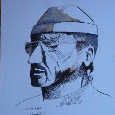 Arte: DIBUJO A TINTA , RETRATO DE JACQUE COUSTEAU, AUTOR EDUARDO CORREA. Lote 41118643