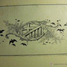 antiguo dibujo ó boceto, plumilla y tinta china, escudo - Barcelona, Firma. Miró