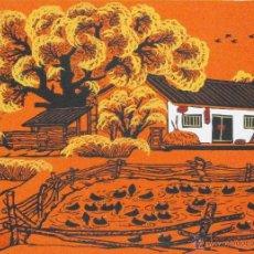 Arte: DIBUJO NAIF DE CASA EN EL CAMPO (53 X 27 CMS). Lote 41216729