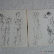 Arte: DIBUJOS A LÁPIZ Y CARBONCILLO - DESNUDOS FEMENINOS ( H). Lote 41264874