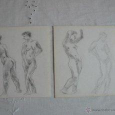 Arte: DIBUJOS A LÁPIZ Y CARBONCILLO - DESNUDOS FEMENINOS ( J). Lote 41265034