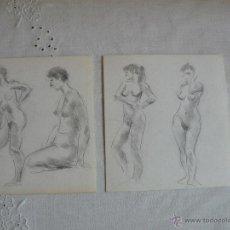 Arte: DIBUJOS A LÁPIZ Y CARBONCILLO - DESNUDOS FEMENINOS ( K). Lote 41265125
