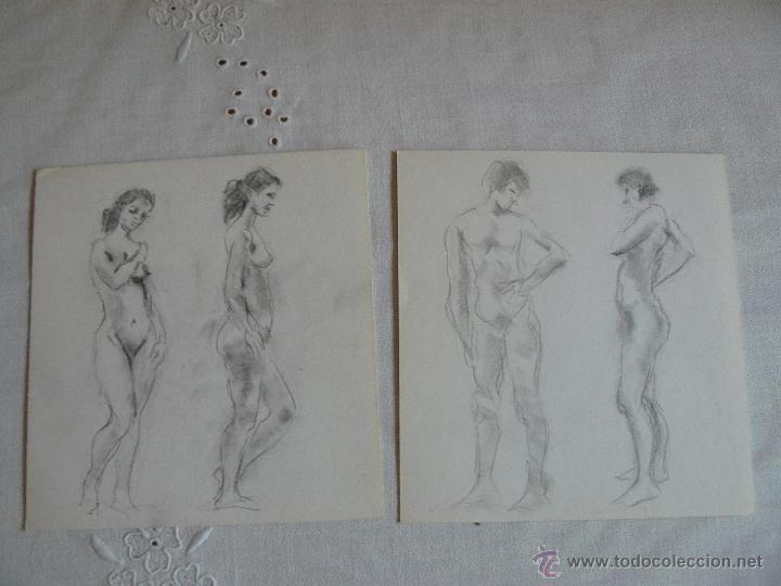 DIBUJOS A LÁPIZ DESNUDOS FEMENINOS ( LL) (Arte - Dibujos - Contemporáneos siglo XX)