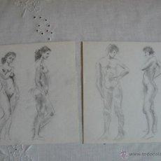 Arte: DIBUJOS A LÁPIZ DESNUDOS FEMENINOS ( LL). Lote 41265260