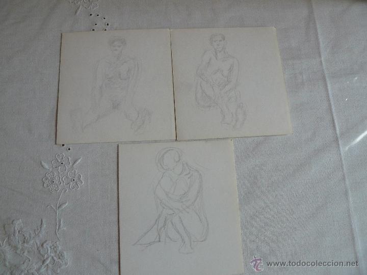DIBUJOS A LÁPIZ - DESNUDOS FEMENINOS ( Ñ) (Arte - Dibujos - Contemporáneos siglo XX)