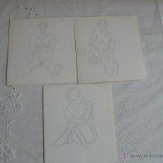 Arte: DIBUJOS A LÁPIZ - DESNUDOS FEMENINOS ( Ñ). Lote 41265506