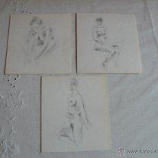 Arte: DIBUJOS A LÁPIZ DESNUDOS FEMENINOS ( O). Lote 41265609